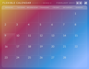 Calendario: A Flexible Calendar Plugin PCイメージ01