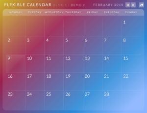 Calendario: A Flexible Calendar Plugin PCイメージ01